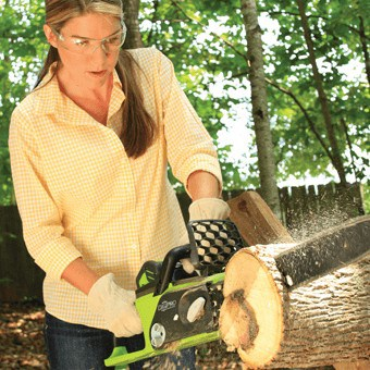Although potentially dangerous, a chainsaw can save a lot of time