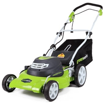 Plug in and go with this mower