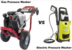 Gas Powered Vs Electric Pressure Washer