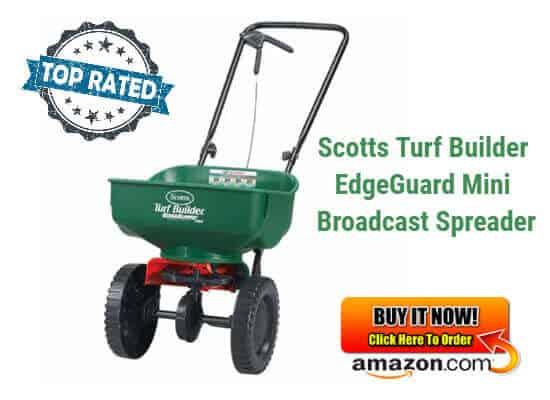 Scotts Turf Builder EdgeGuard Mini Broadcast Spreader