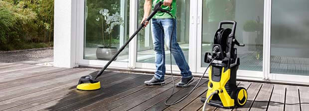 pressure washer clean wood deck