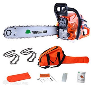 TIMBERPRO 62cc 20″ Petrol Chainsaw with 2 chains
