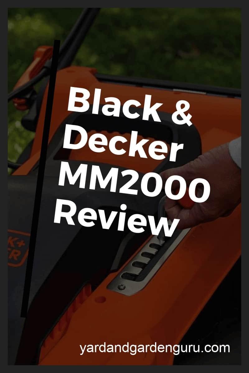 black n decker electric lawn mower