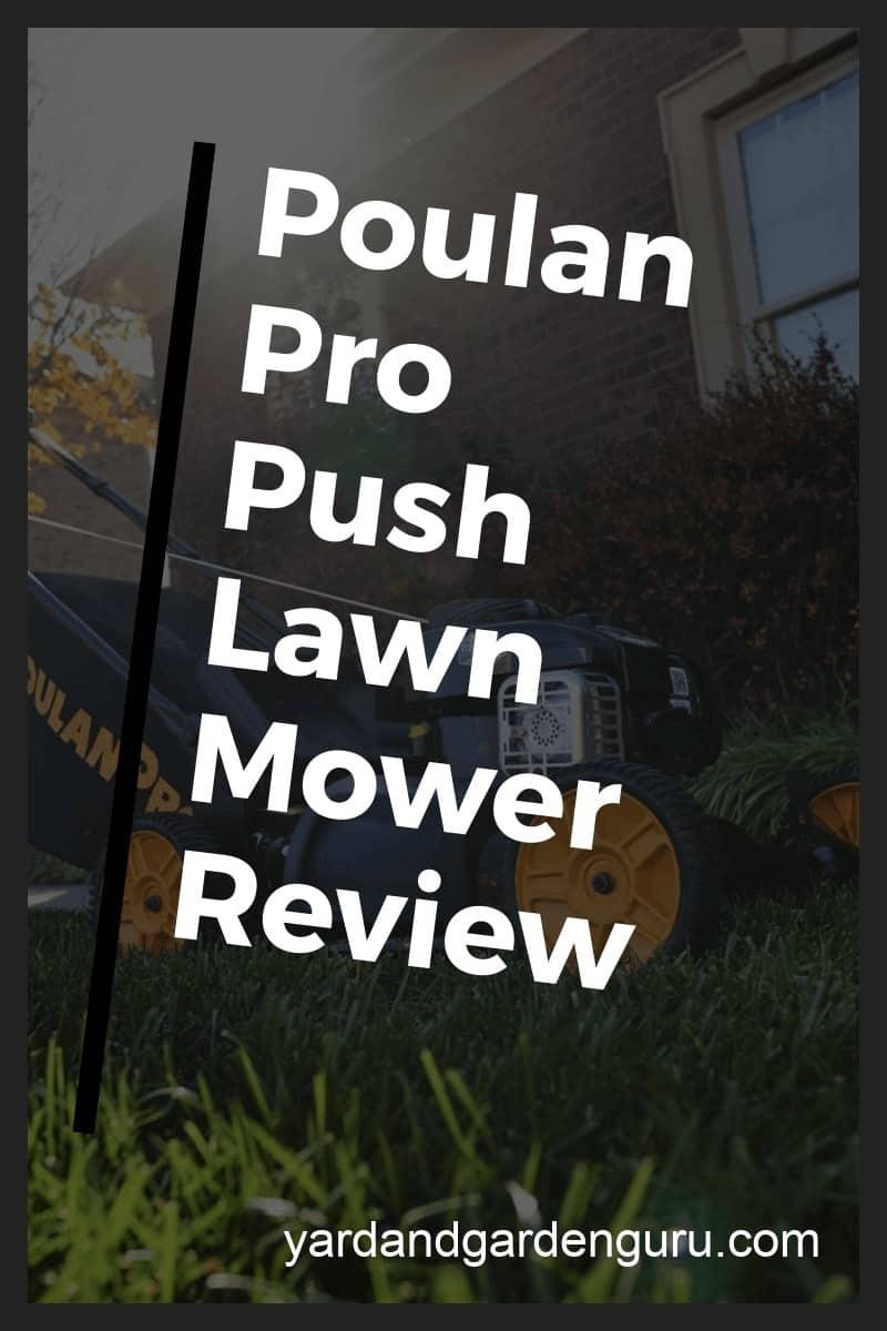 poulan self propelled lawn mower