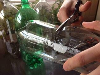 Preparing materials for Self Watering Planter