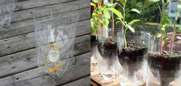 making a self-watering planter
