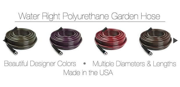 Water Right 400 Series Polyurethane Slim & Light Drinking Water Safe Garden Hose, 50-Foot x 7-16-Inch, Brass Fittings