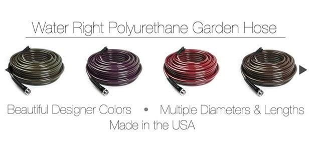 Water Right 400 Series Polyurethane Slim & Light Drinking Water Safe Garden Hose, 50-Foot x 7-16-Inch, Brass Fittings