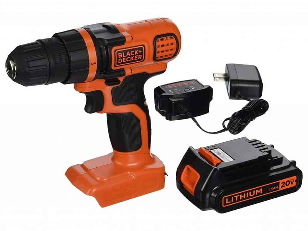 BLACK+DECKER LDX120C 20V MAX Lithium Ion Drill Driver as the Best Cordless Drill