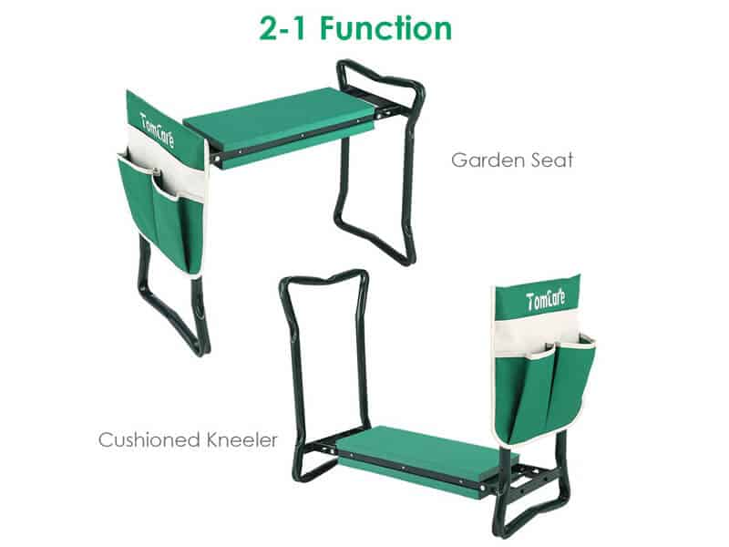 TomCare Garden Kneeler Seat Garden Bench Garden Stools Foldable Stool as the Best Potting Bench