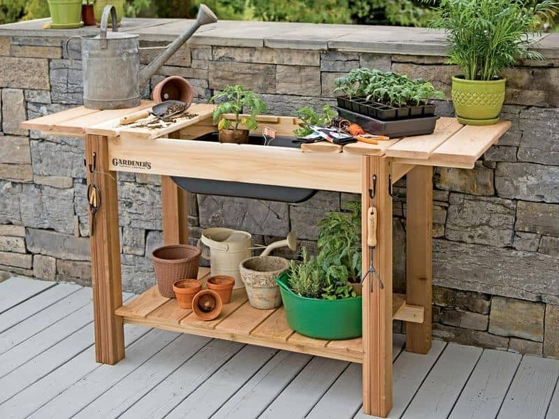 potting bench table for your garden