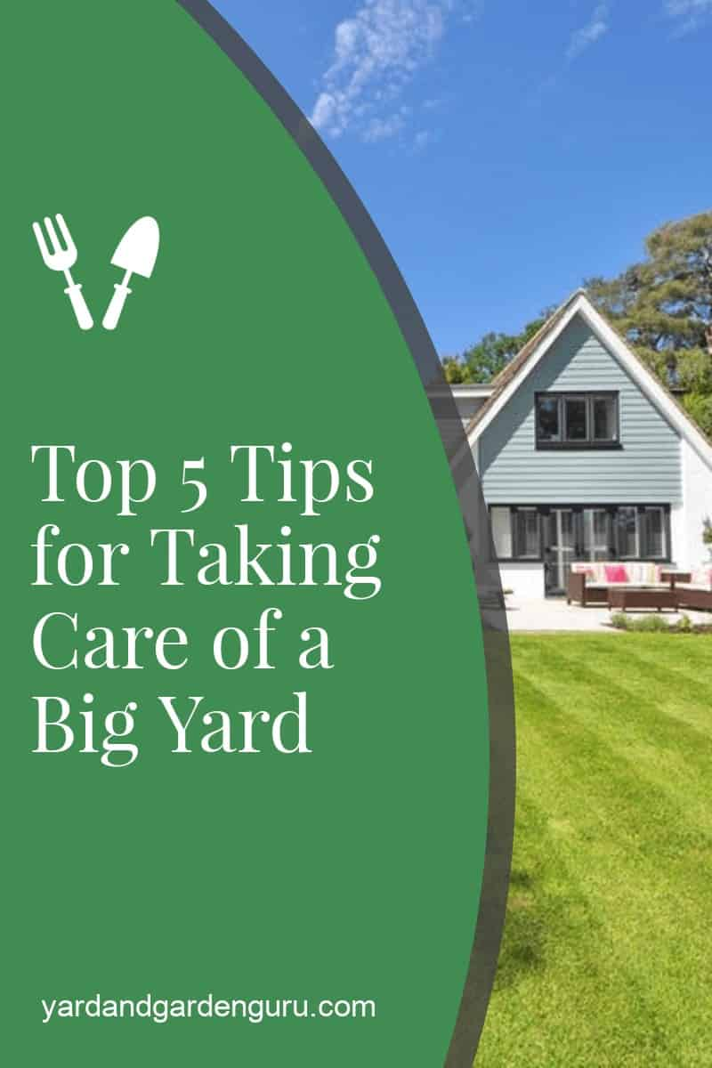 Top 5 Tips for Taking Care of a Big Yard