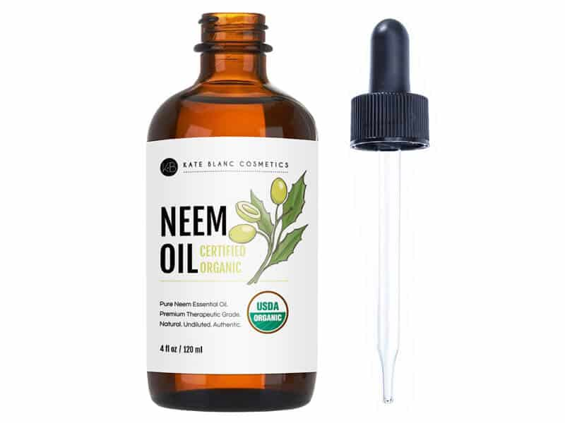 Neem Oil (4oz) by Kate Blanc. USDA Certified Organic, Virgin, Cold Pressed, 100% Pure. Great for Hair, Skin, Nails. Natural Anti Aging Moisturizer