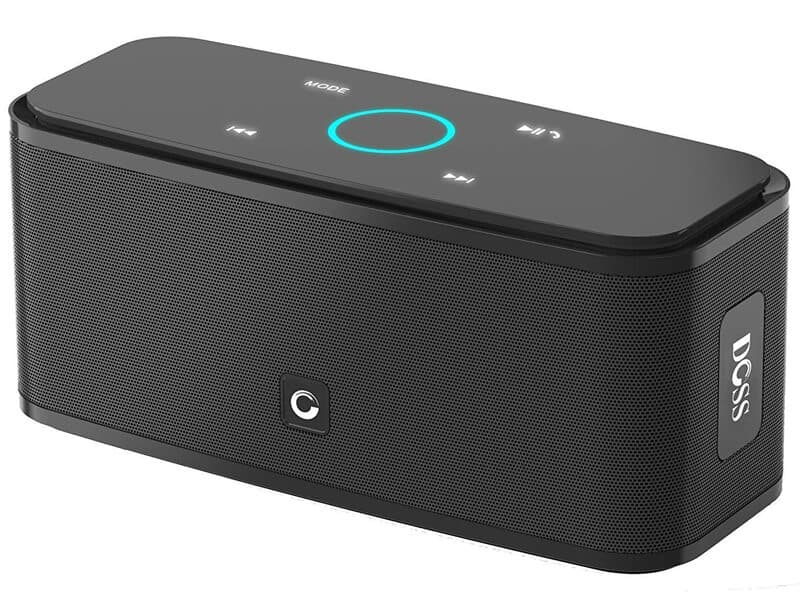 DOSS SoundBox Touch Wireless Bluetooth V4.0 Portable Speaker with HD Sound and Bass, 12H Playtime, Built-in Mic, Portable Wireless Speaker Compatible with Phone, Tablet, TV and Gift Ideas (Black