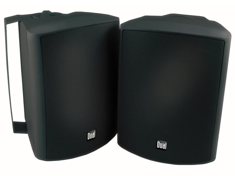 Dual Electronics LU53PB 3-Way High-Performance Outdoor Indoor Speakers with Powerful Bass
