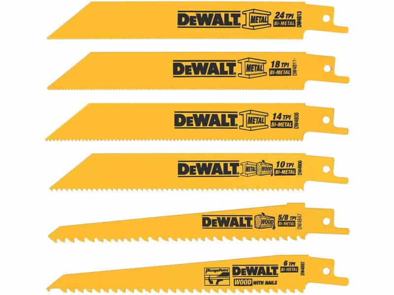 DEWALT Reciprocating Saw Blades, Metal - Wood Cutting Set