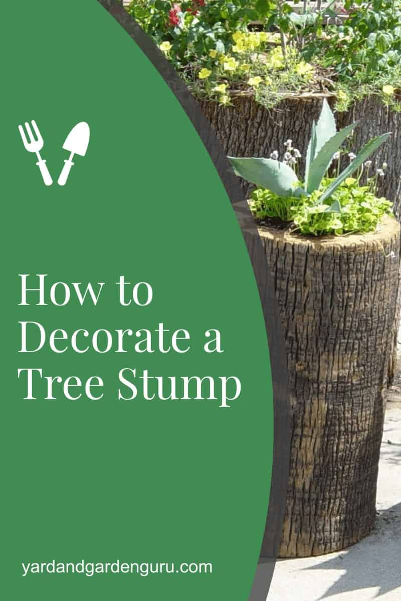 How to Decorate a Tree Stump