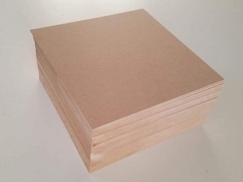 1-8 (3MM) 12 x 12 MDF Board 24 Sheets