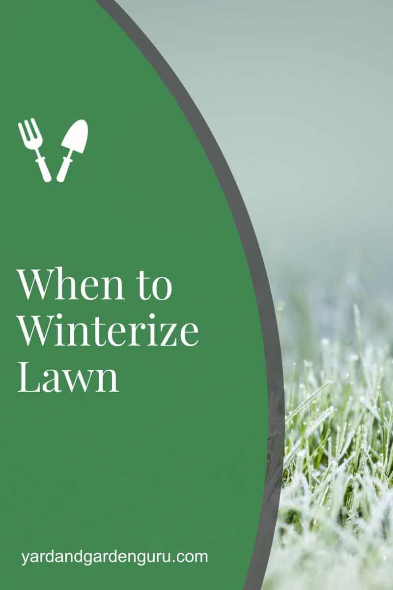When to Winterize Lawn