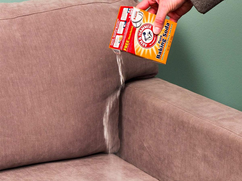 Clean Upholstery With Baking Soda