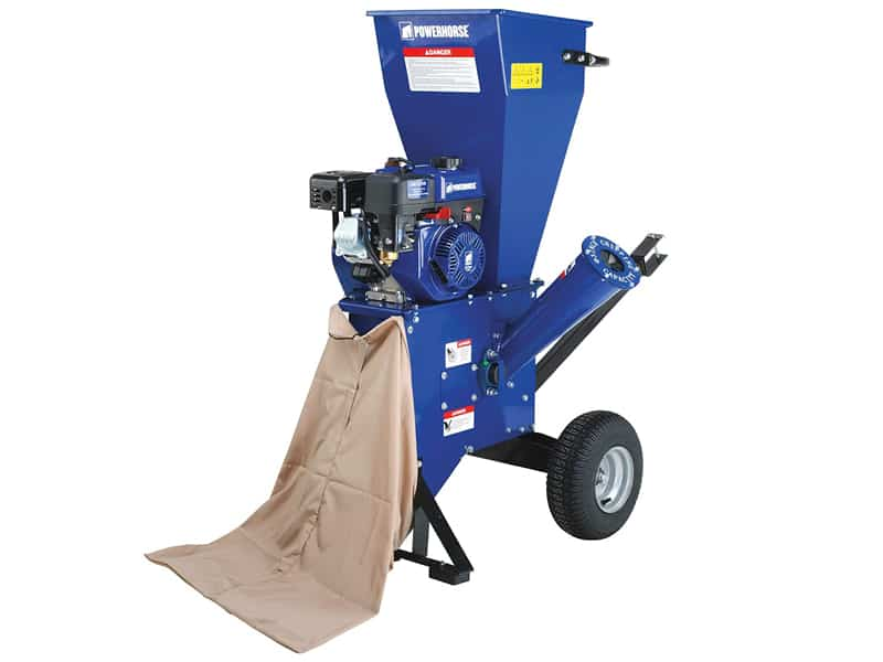 Powerhorse ChipperShredder - 212cc OHV Engine, 3in. Chipping Capacity