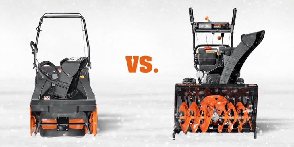 Single Stage Vs 2 Stage Snow Blowers