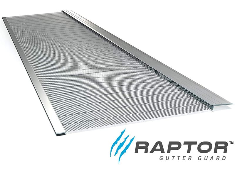 Stainless Steel Micro-Mesh, Raptor Gutter Guard A Contractor-Grade DIY Gutter Cover That fits Any roof or Gutter type-48ft to a Box and fits a 5 Gutter.