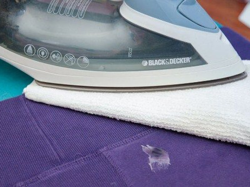 Remove Glue From Fabric With Iron