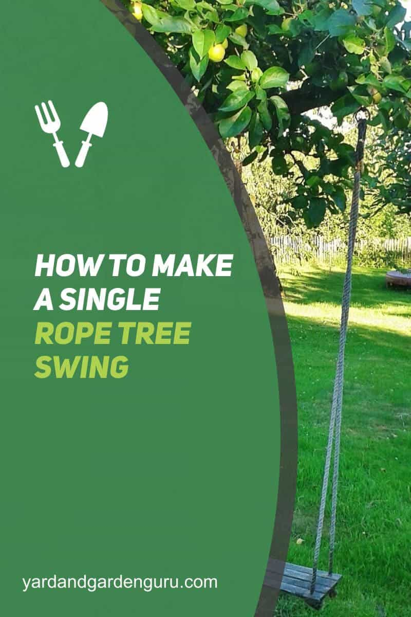 How to Make a Single Rope Tree Swing