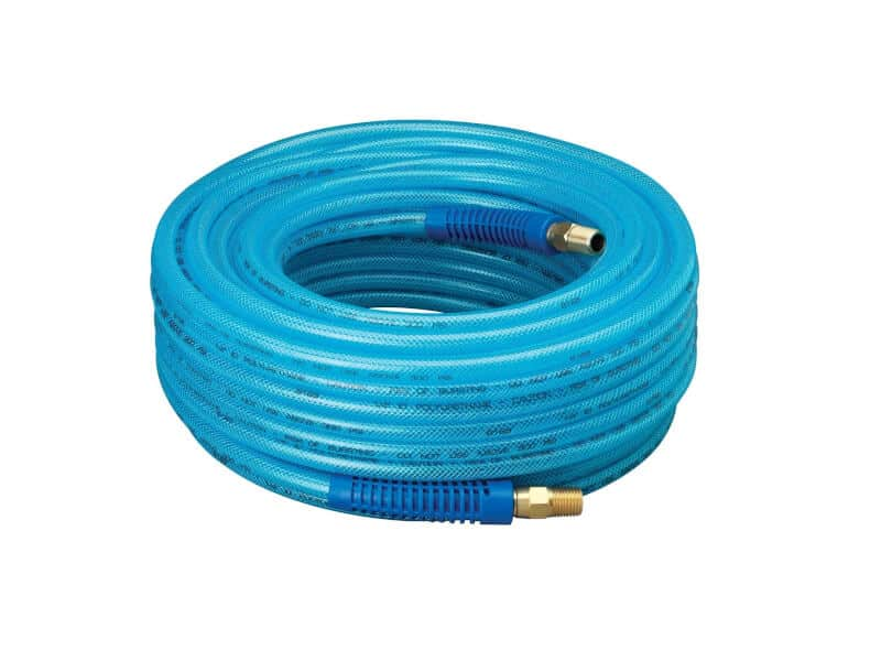 Amflo 12-25E Polyurethane Air Hose - Non-marring, Smooth Finish, Easy to carry, Lightweight, Cold Weather Flexible, Great Indoors or Out, 14 X 100'