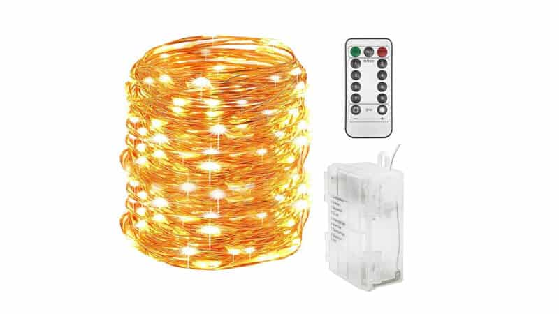 Twinkle Star 300 LED 99 FT Copper Wire String Lights Battery Operated 8 Modes with Remote, Waterproof Fairy String Lights for Indoor Outdoor Home Wedding Party Decoration