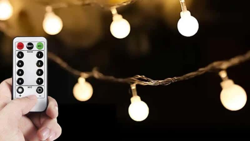WERTIOO 33ft 100 LEDs Battery Operated String Lights Globe Fairy Lights with Remote Control for Outdoor Indoor Bedroom,Garden,Christmas Tree 8 Modes,Timer