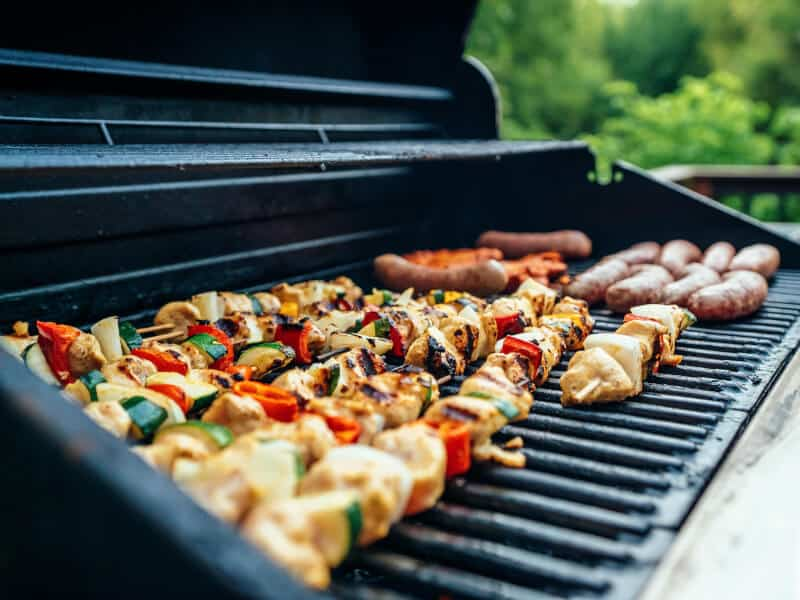bbq on black grill